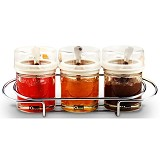 OXONE Condiment Jar with Rack OX-325